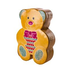 Handcrafted Leather Teddy Bear Bank: Great  and Fun Way For The Child In Your Life To Save