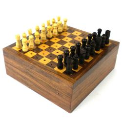 Handcraft Travel Wood Chess Game Set