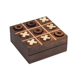 Handmade Rosewood Tic Tac Toe Game: Great For Travel Entertainment
