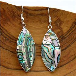 Handmade Ellipe Abalone Earrings