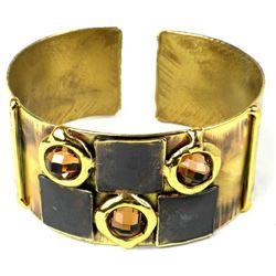 Handmade Show Place Topaz Cuff Bracelet