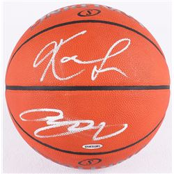 LeBron James  Kevin Love Signed Official NBA Game Ball (UDA COA)