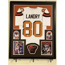 e99c66b6bf6 Jarvis Landry Signed Browns 34x42 Custom Framed Jersey (JSA COA)