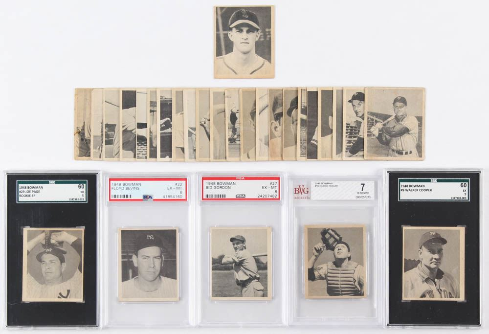 Lot Of 28 1948 Bowman Baseball Cards With 36 Stan