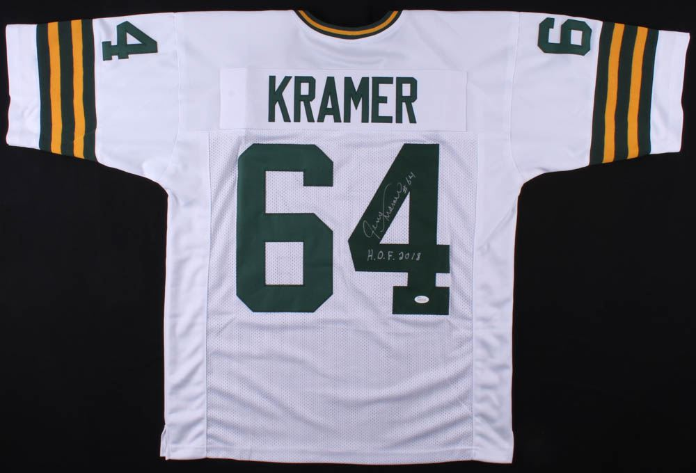 eea9a3ec6e5db Image 1 : Jerry Kramer Signed Packers Jersey Inscribed