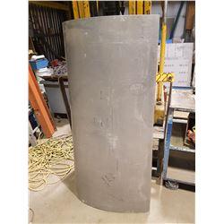 "Curved Aluminum Sheet 30"" x 57""3/4 x 7/32"""