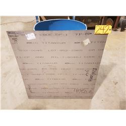 "Titanium Sheet 34"" x 36"" x 1/16"""