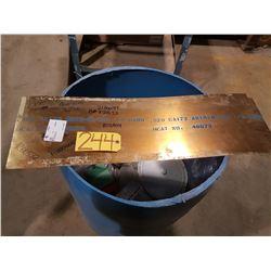 "Beryllium Cooper Sheet 32"" x 10"" x 0.020"