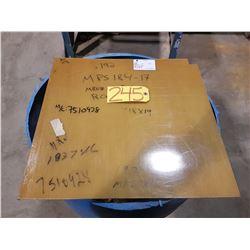 "Laminated Acrylic Plate 20"" x 18""3/4 x 0.192"