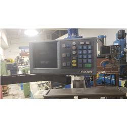 """Milling TOS F2V  Variable Speed axe,   Table 10"""" x 39"""" and  Digital Read Out 3 axe"""