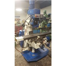 """Milling TOS F2vlr   Variable speed, axe variable speed spindle,  Table 12"""" x 52"""" and  Digital Read O"""
