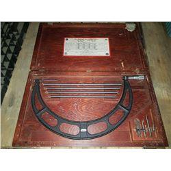 "Starrett No. 224 Set D 12""-16"" Micrometer Caliper Outside Interchangeable Anvils"