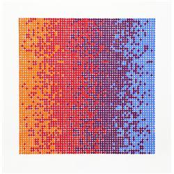 David Roth, Op-Art Geometric 7, Serigraph