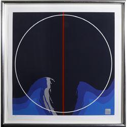 Thomas W. Benton, Earth Series I Blue, Silkscreen