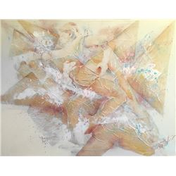 Bettcher, Gold Abstract, Oil Painting