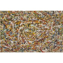 Michael Schreck, Homage to Pollock, Acrylic Painting