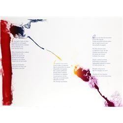 Paul Jenkins, Euphories de la Couleur 4, Illuminated Lithograph