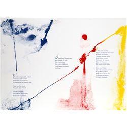Paul Jenkins, Euphories de la Couleur 5, Illuminated Lithograph