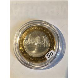 Silver Strike $10 Casino Coin .999 Fine Silver Limited Edition CASA BLANCA *RESORT* Mesquite NV
