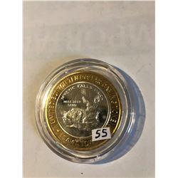 Silver Strike $10 Casino Coin .999 Fine Silver Limited Edition SAMS TOWN *MYSTIC FALLS PARK* MULE DE
