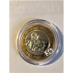 Silver Strike $10 Casino Coin .999 Fine Silver Limited Edition SAMS TOWN *BILL & SAM BOYD* Las Vegas