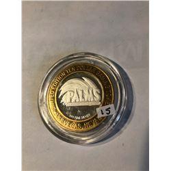 RARE Silver Strike $10 Casino Coin .999 Fine Silver Limited Edition PALMS *HART & HUNNINGTON TRITON