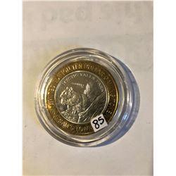 Silver Strike $10 Casino Coin .999 Fine Silver Limited Edition SAMS TOWN *MYSTIC FALLS PARK* Squirre