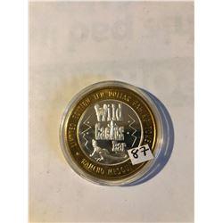 RARE Silver Strike $10 Casino Coin .999 Fine Silver Limited Edition RANCHO MESQUITE *WILD CACTUS BAR