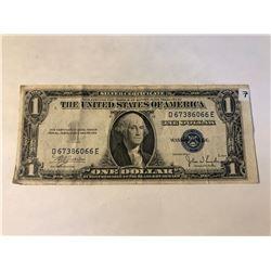 1935 C Series US 1 Dollar Silver Certificate Note in AU High Grade Serial # D67386066E
