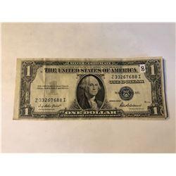 1935 F Series US 1 Dollar Silver Certificate Note in AU+ High Grade Serial # Z33267688I
