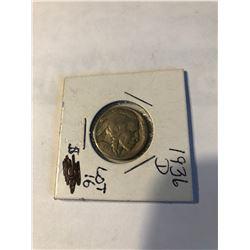 1936 D Buffalo Nickel Very Good Grade