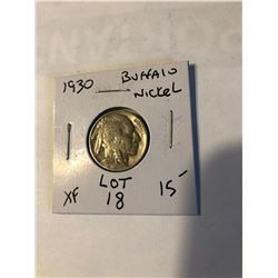 1930 P Buffalo Nickel Extra Fine Grade