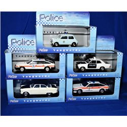 Vanguards Diecast Police Collection 5pcs