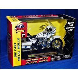 Kawasaki and Harley Diecast Police Bikes.
