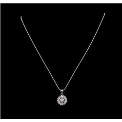 14KT White Gold 2.35 ctw Diamond Pendant With Chain