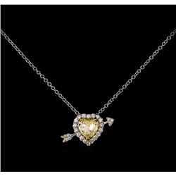 18KT Two-Tone Gold 2.25 ctw Diamond Pendant With Chain