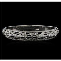 18KT White Gold 1.68 ctw Diamond Bangle Bracelet
