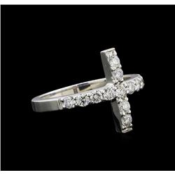 14KT White Gold 0.80 ctw Diamond Ring