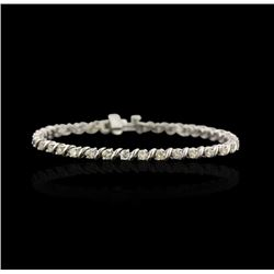 14KT White Gold 2.67 ctw Diamond Tennis Bracelet