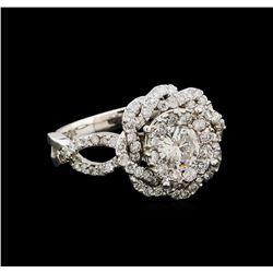 14KT White Gold 1.37 ctw Diamond Ring