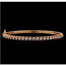 14KT Rose Gold 1.59 ctw Diamond Bracelet