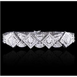 18KT White Gold 3.43 ctw Diamond Bracelet