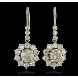 14KT White Gold 3.72 ctw Diamond Earrings