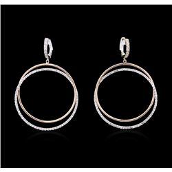 14KT Two-Tone Gold 1.34 ctw Diamond Earrings