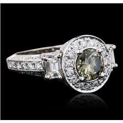 10KT White Gold 2.81 ctw Diamond Ring