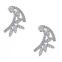 0.59 ctw Diamond Earrings - 18KT White Gold