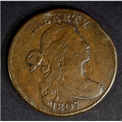 1807 LARGE CENT VF RIM BUMP