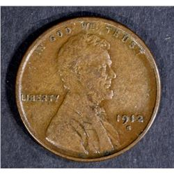 1912-S LINCOLN CENT, XF