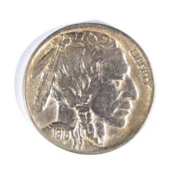 1915-D BUFFALO NICKEL, CH BU cleaning
