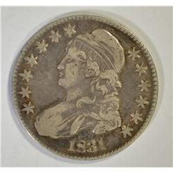 1831 BUST HALF DOLLAR, VF+